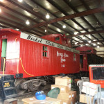 Nickel Plate Road caboose in the barn